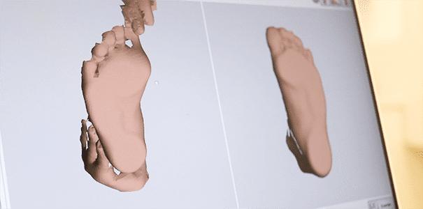 Pie 3D estudio de la pisada