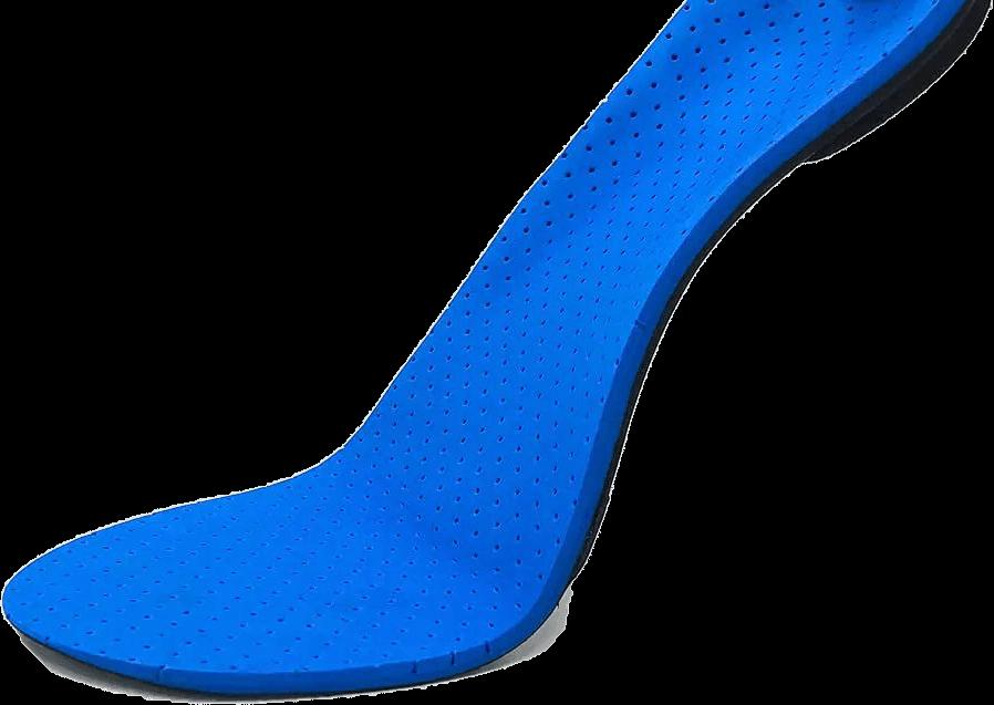 Plantilla del pie azul
